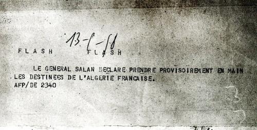 Nomination du général Salan