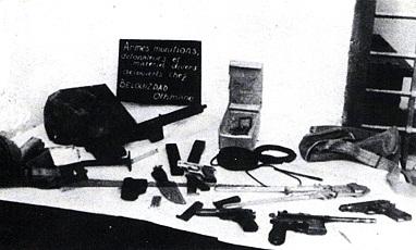 Armes du commando Belouizdad