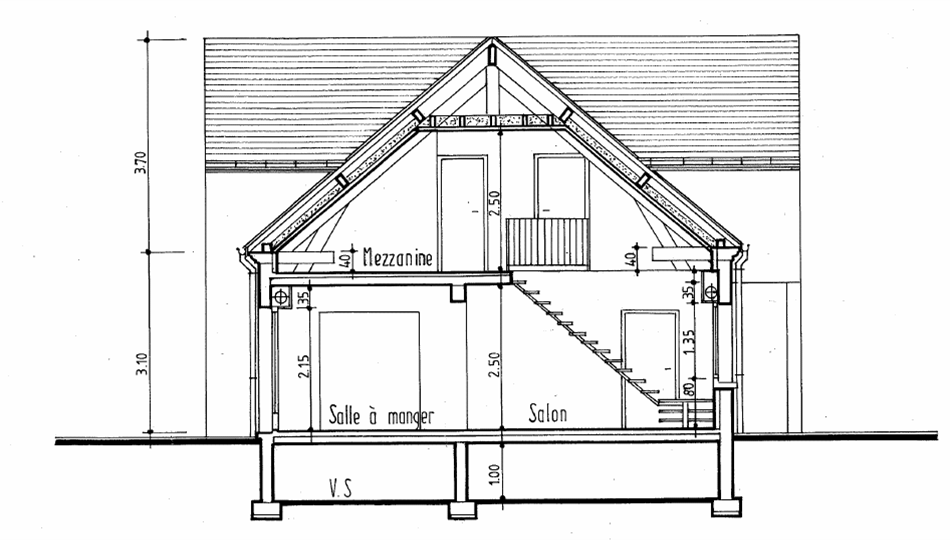 Plan coupe maison plan maison interieur d for plan d amenagement interieur with plan coupe - Coupe verticale d un batiment ...