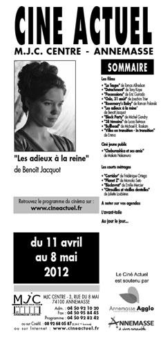Programme du 11 avril au 8 mai 2012