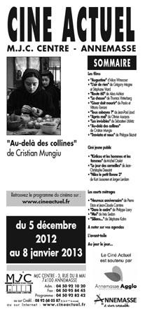 Programme du 5 décembre 2012 au 8 janvier 2013