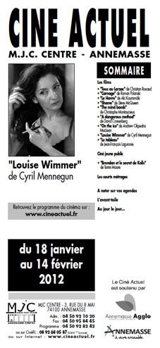 Programme du 18 janvier au 14 février 2012