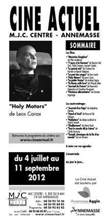 Programme du 4 juillet au 11 septembre 2012