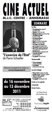 Programme du 16 novembre au 13 décembre 2011