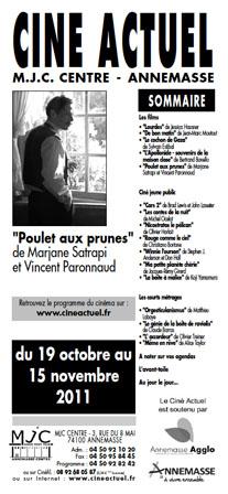 Programme du 19 octobre au 15 novembre 2011