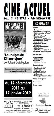 Programme du 14 décembre 2011 au 17 janvier 2012