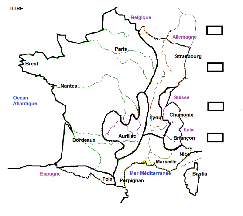 Carte france climat colorier