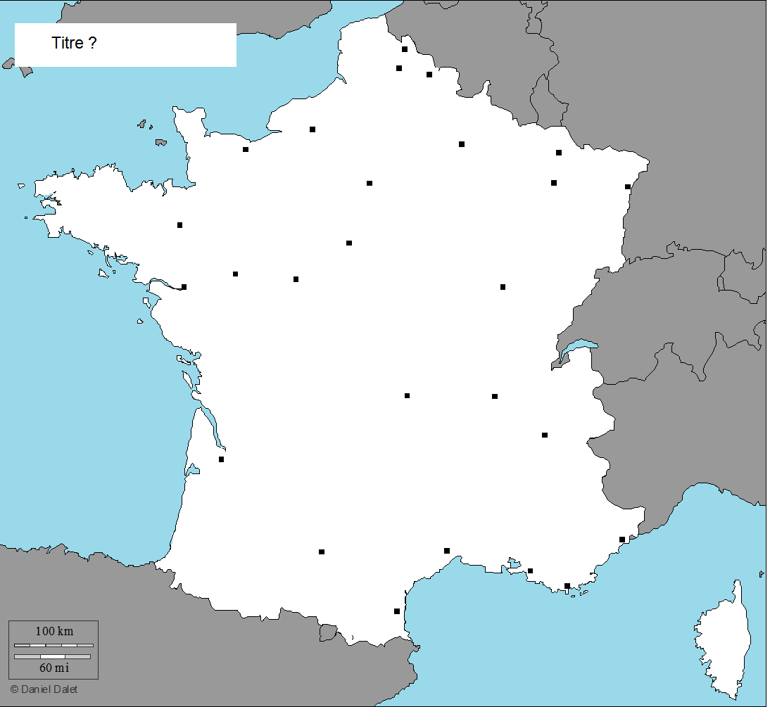carte de france villes cycle 3