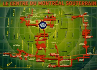 """Canada, Montréal """"une ville souterraine"""" ou """"une ville intérieure"""""""