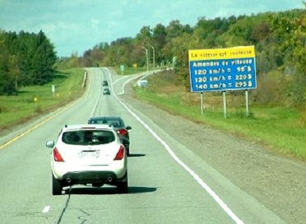 Le Canada - Québec et ses règles de  circulation (code de la route)