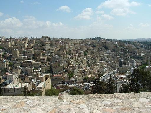 Amman (Jordanie ) sa capitale et la grande mosquée du Roi Abdallah 1er