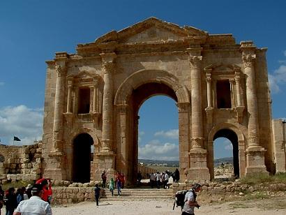 Jordanie : Jerash et son Arc de Triomphe