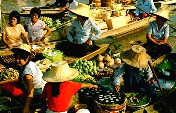 Thaïlande:le marché flottant de Damnoen Saduak