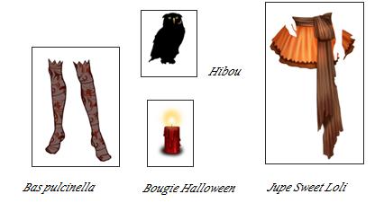 Gains des quêtes Halloween